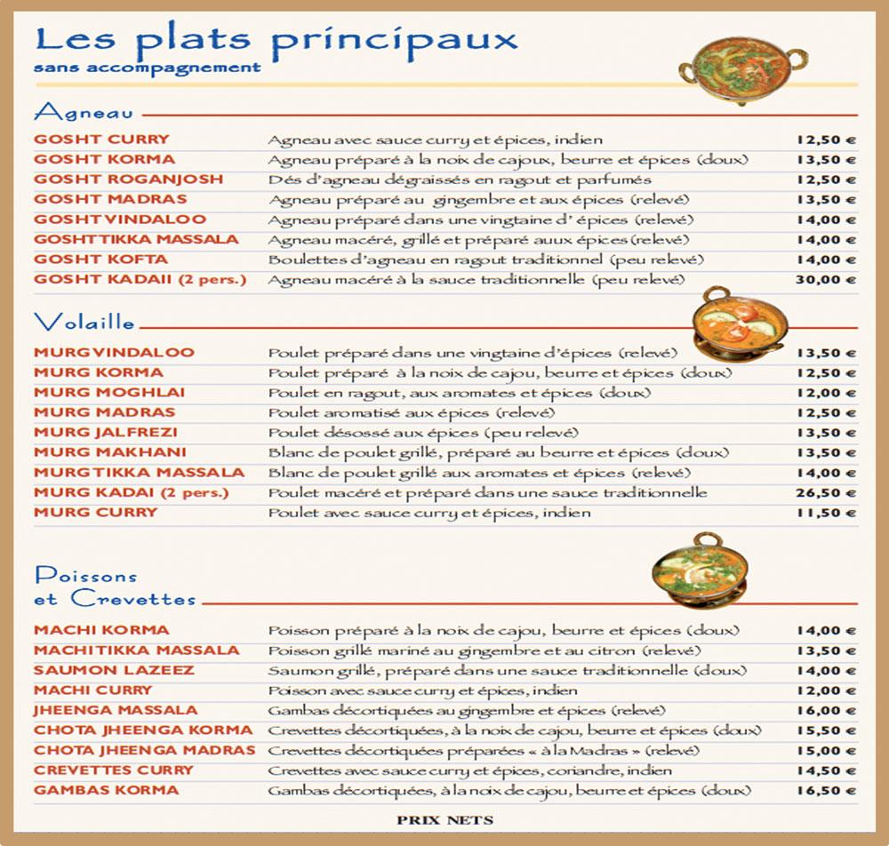 Carte Indien Restaurant.Le Restaurant Les Jardins De Shah Jahan Vous Ouvre Ses